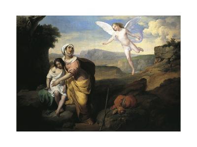 Hagar and Ishmael Visited by Angel, Circa 1846-Francesco Coghetti-Giclee Print