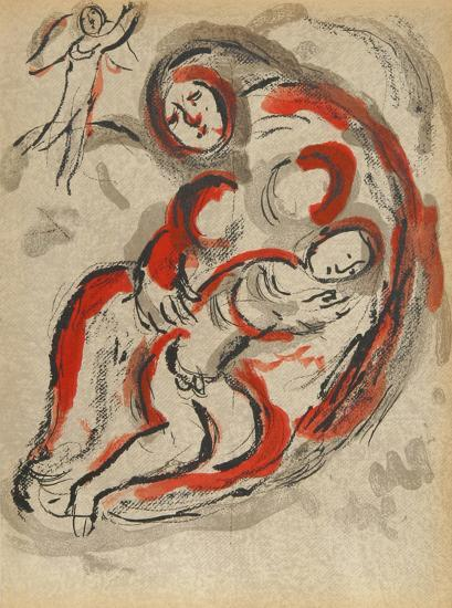 "Hagar in the Desert from ""Drawings for the Bible""-Marc Chagall-Premium Edition"
