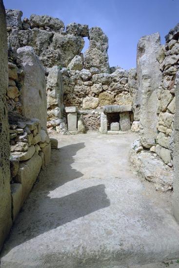 Hagar Qim temple on Malta. (c.3000 BC) Artist: Unknown-Unknown-Photographic Print