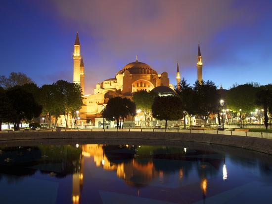 Haghia Sophia at Sunrise, (Aya Sofya Mosque), the Church of Holy Wisdom, Istanbul, Turkey-Neil Farrin-Photographic Print