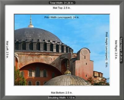Hagia Sophia Exterior Detail Of Dome 6th Century Giclee Print Art Com