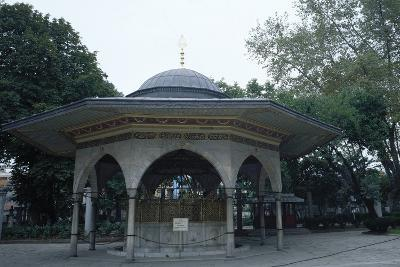 Hagia Sophia, Fountaint of Ablutions, Istanbul--Photographic Print