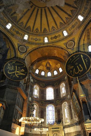 Hagia Sophia, Interior, Istanbul--Photographic Print