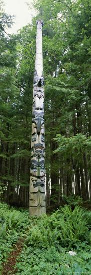 Haida Totem Pole in Tongass National Forest, Alaska-Rich Reid-Photographic Print