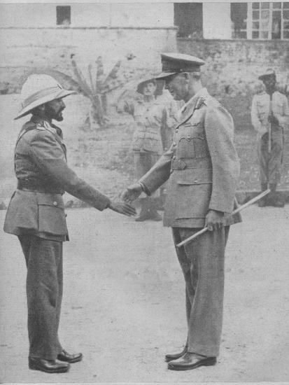 'Haile Selassie and General Cunningham', 1941-Unknown-Photographic Print