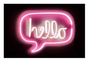 Neon Hello PB by Hailey Carr