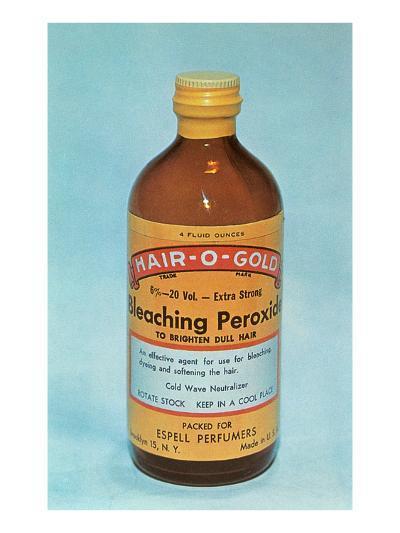 Hair-O-Gold Bleaching Peroxide--Art Print