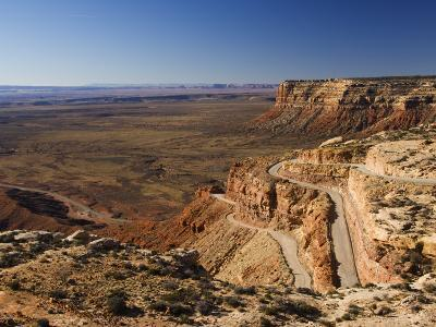 Hairpin Bends Leading Down to the Valley of the Gods Near Monument Valley, Arizona, USA-Kober Christian-Photographic Print