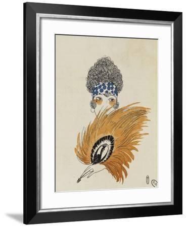 "Hairstyle by Emile in Paris, Rue Saint Honore, Advert from ""Le Bon Ton"" Magazine--Framed Giclee Print"