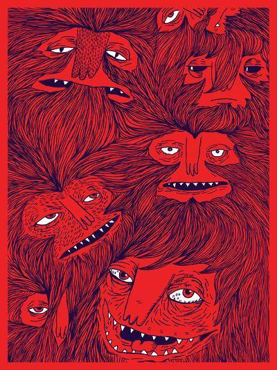 Hairwolves-Joe Van Wetering-Art Print