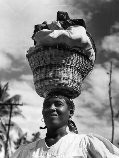 Haitian Woman Vendor, C.1959--Photographic Print