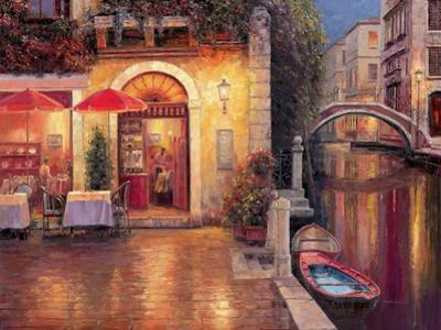 Night Café after Rain by Haixia Liu