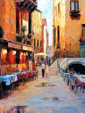 Street Café after Rain by Haixia Liu