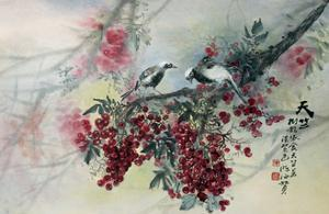 A Couple of Gray Tree Pies by Haizann Chen
