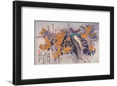 Chrysanthemums and Birds