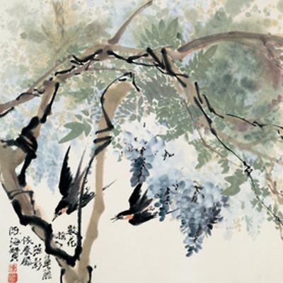 Flying through the Purple Rain by Haizann Chen