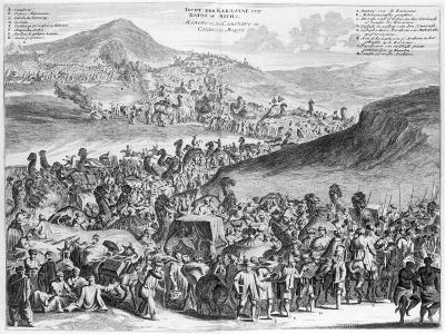 Hajj Caravan from Cairo to Mecca, from 'Description De L'Afrique' by O. Dapper, 1686--Giclee Print