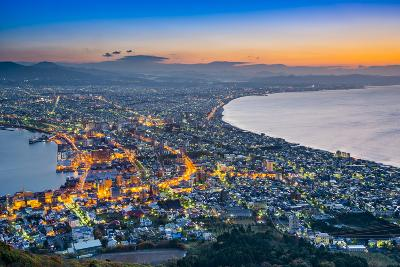 Hakodate, Japan Viewed from Hakodate Mountain.-SeanPavonePhoto-Photographic Print