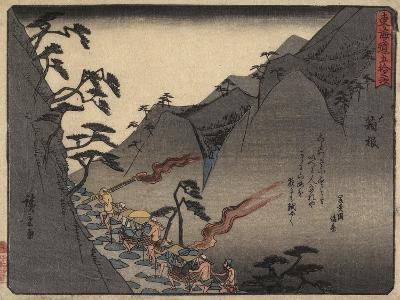 Hakone, 1837-1844-Utagawa Hiroshige-Giclee Print