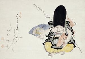 Ebisu Dancing with a Poem by Hakuin Ekaku