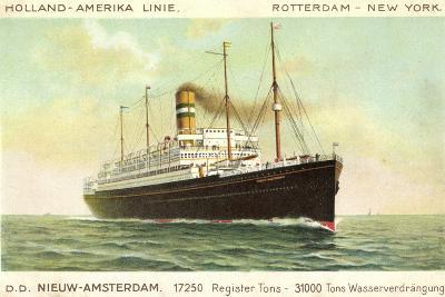 Hal, D.D. Nieuw Amsterdam, Rotterdam, New York--Giclee Print