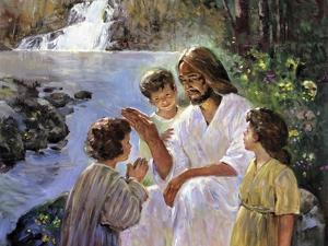 Christ and the Children by Hal Frenck