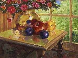Fruit and Flowers by Hal Frenck