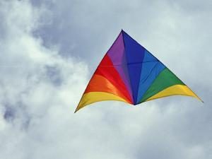 Colorful Delta Kite by Hal Gage