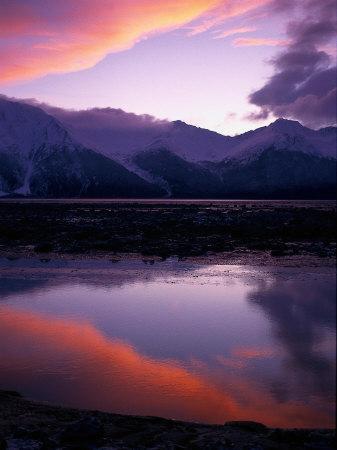 Sunset on Turnagain Arm, South Central Alaska