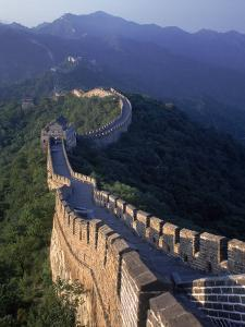 The Great Wall, Beijing, China by Hal Gage