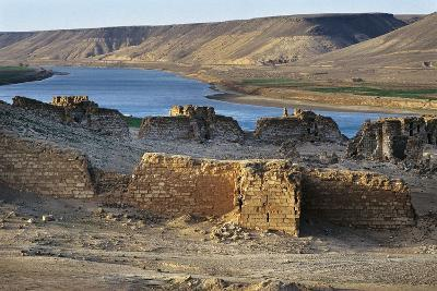 Halabiya Citadel, on Banks of Euphrates, Syria. Roman and Byzantine Civilisations, 3rd-6th Century--Photographic Print