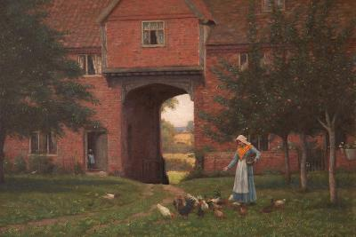 Hales Old Hall, Hales Green, Near Norwich, Norfolk, 1913-Edmund Blair Leighton-Giclee Print