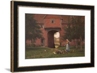 Hales Old Hall, Hales Green, Near Norwich, Norfolk, 1913-Edmund Blair Leighton-Framed Giclee Print