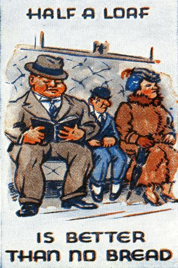 Half a Loaf Is Better Than No Bread, 1938--Giclee Print