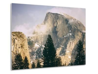 Half Dome and Wispy Clouds in Late Afternoon, Yosemite Valley-Vincent James-Metal Print