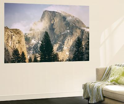 Half Dome and Wispy Clouds in Late Afternoon, Yosemite Valley-Vincent James-Wall Mural