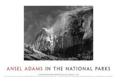 Half Dome, Blowing Snow, 1955-Ansel Adams-Art Print
