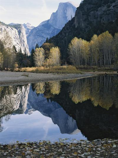 Half Dome Mountain is Reflected in the Merced River-Marc Moritsch-Photographic Print