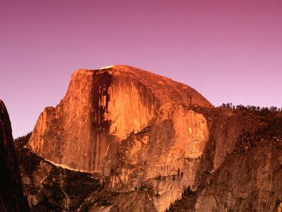 Half Dome Rock at Sundown, Yosemite National Park, California, USA-Thomas Winz-Photographic Print