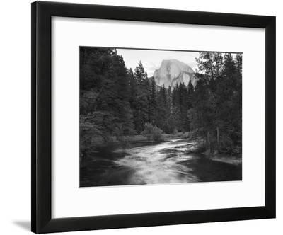 Half Dome with Sunset over Merced River, Yosemite, California, USA-Tom Norring-Framed Photographic Print