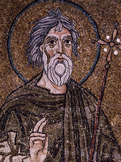 Half- Figure of Apostle Andrew Holding Up Starry Cross--Giclee Print