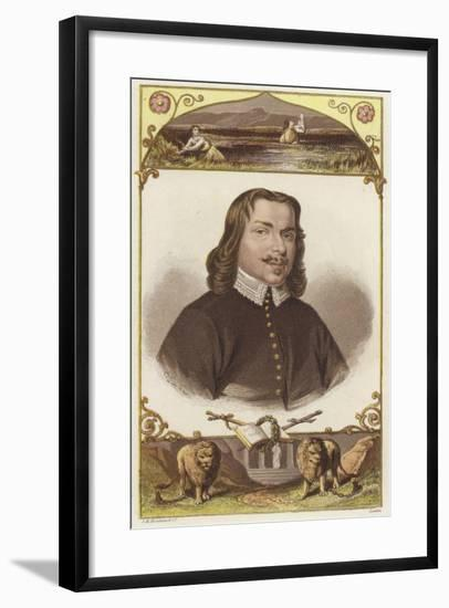 Half-Length Portrait of a Man Wearing 18th-Century Clothing--Framed Giclee Print