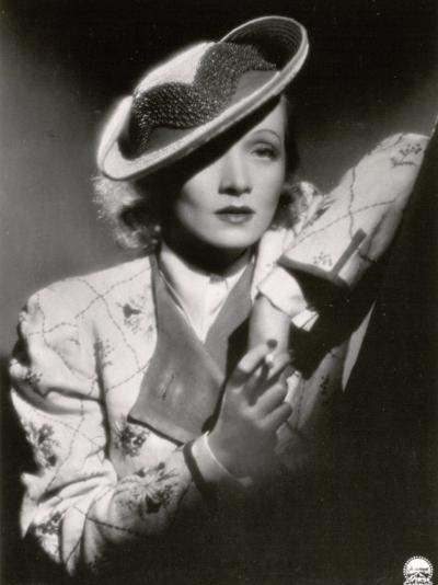 Half-Length Portrait of the Celebrated German Movie Actress Marlene Dietrich--Photographic Print