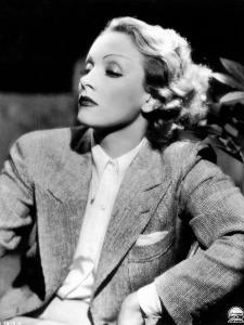 Half-Length Portrait of the Celebrted German Movie Actress Marlene Dietrich