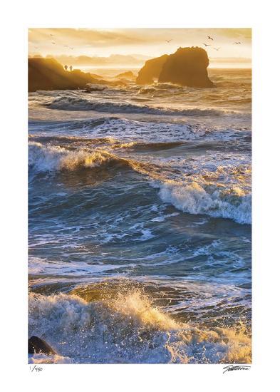 Half Moon Bay Breakers-Donald Satterlee-Giclee Print