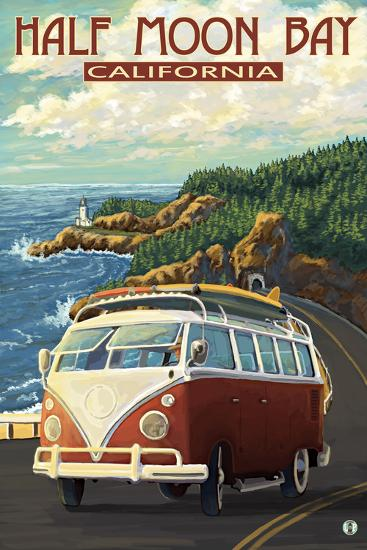 Half Moon Bay, California - Highway One Coast-Lantern Press-Wall Mural