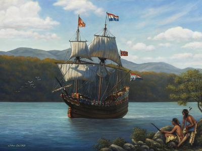 Half Moon on the Hudson-John Zaccheo-Giclee Print