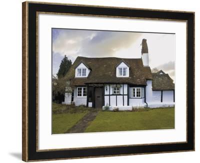 Half Timbered Cottage in Village of Welford on Avon, Warwickshire, England, United Kingdom-David Hughes-Framed Photographic Print
