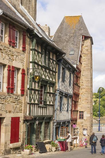 Half Timbered Houses, Old Town, Treguier, Cotes D'Armor, Brittany, France, Europe-Guy Thouvenin-Photographic Print