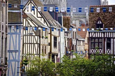 Half Timbered Norman Facades, Rouen, Normandy, France, Europe-Guy Thouvenin-Photographic Print